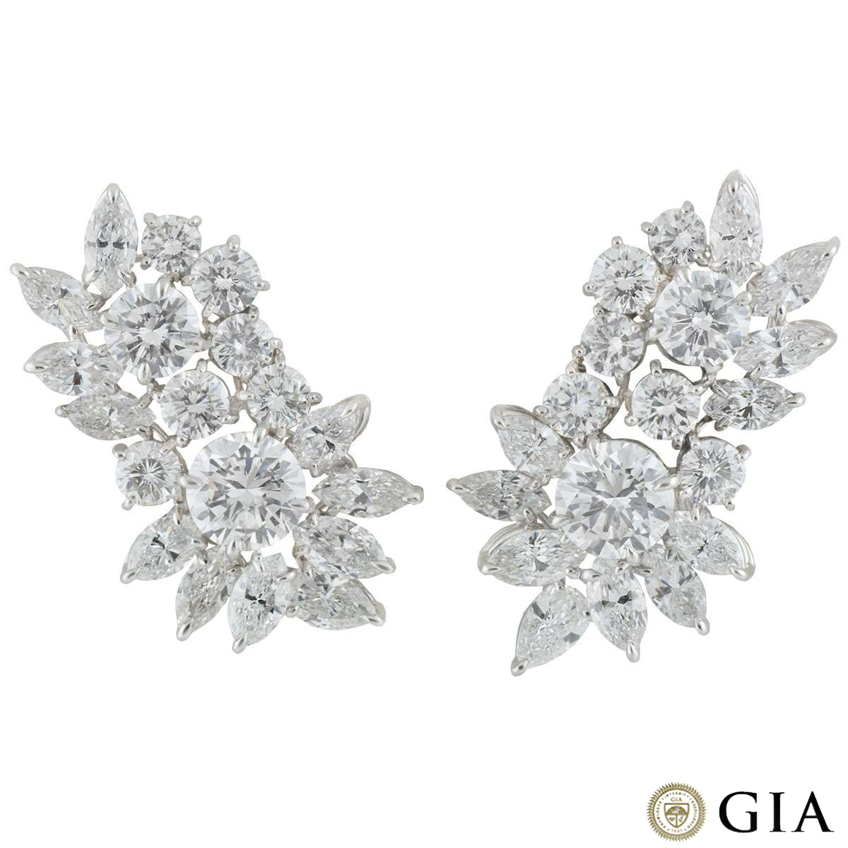 Diamond Cluster Earrings 20.30ct